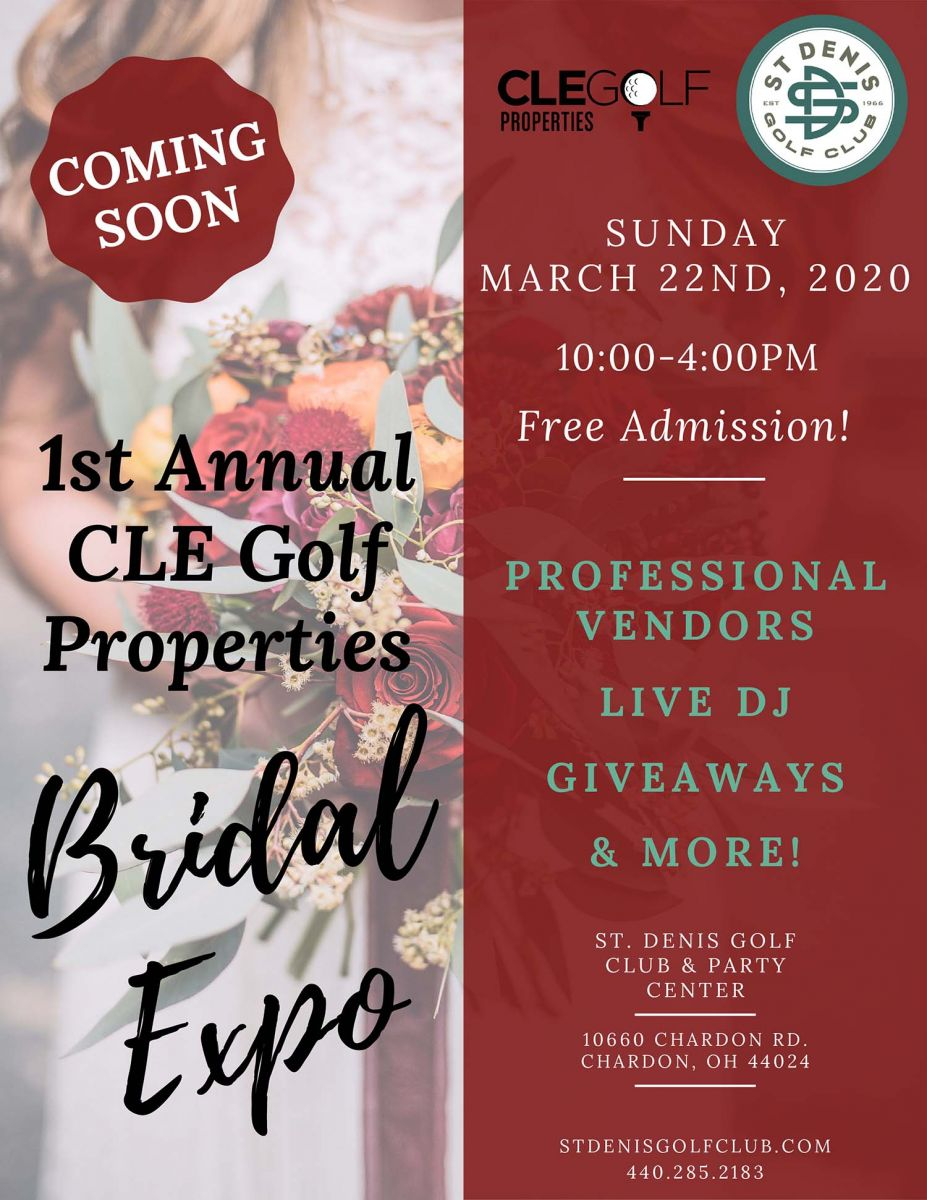 Coming soon. 1st annual CLE Golf Properties bridal expo
